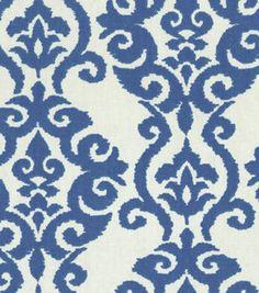 Home Decor 8''x 8'' Fabric Swatch  Print Fabric-Waverly Luminary Indigo
