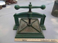 Vintage Antique Cast Iron Book Binding Press