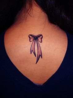 Cute placement for a bow tattoo #tat #ink #bow #tattoo #inked