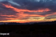 Sunset, Big Bend National Park, Texas. Photography by Tim Speer