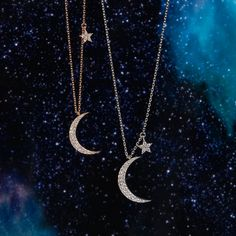 #Galaxy Halloween Edit – DOSE of ROSE Moon and star charm necklace #mooncharm #starcharm Jewellery Uk, Rose Jewelry, Moon Charm, Rose Necklace, Chokers, Pendants, Necklaces, Chain, Stars