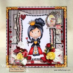 Queen of Hearts  made by Paper Nest Dolls Rubber Stamps & sold individually. Items can be purchased in my ebay Store Pat's Rubber Stamps & Scrapbooks or call me 423-357-4334 with order, or come by 1327 Glenmar Ave. Mt Carmel, TN 37645, Pat's Rubber Stamps & Scrapbook supplies 423-357-4334. We take PayPal. You get free shipping with the phone orders of $30.00 or more