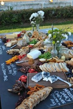 Food Trends 2017 - Informal Sharing Boards and Food Stations Cheese Board #caterers #dertby #buffetstations