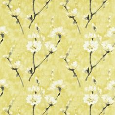 Shop for Fabric at Style Library: Eleni by Sanderson. Nostalgic blossom sprigs are placed all over this paintery linen-blend fabric, produced in inspir. Harlequin Fabrics, Sanderson Fabric, Painted Rug, Made To Measure Curtains, Curtains With Blinds, Curtain Fabric, Fabric Wallpaper, Designer Wallpaper, Fabric Design