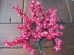 MAY: Bougainvillea tutorial - Spanish