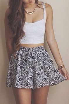 Skirt and Crop perfect combo!
