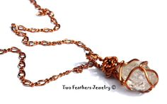 Herkimer Diamond Necklace  Crystal And by TwoFeathersJewelry, $43.95