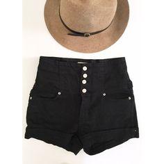 High waisted shorts Black. Half zipper half button up. Forever 21 Shorts