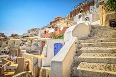 Santorini Steps by Drasko Stojadinovic on Santorini, Greece, Stairs, Mansions, House Styles, Image, Colors, Staircases, Destinations