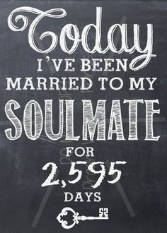 Items similar to Wedding Anniversary SOULMATE printable chalkboard art LOVE Valentine Birthday on Etsy Anniversaire de mariage tableau imprimable SOULMATE par BDubWrites 20 Wedding Anniversary, 10 Year Anniversary, Anniversary Parties, Wedding Vows, Wedding Venues, Wedding Rings, Anniversary Chalkboard, Wedding Vow Renewals, Wedding Speeches