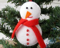 Felt snowman, Christmas Ornament, Felt toy, New Year, Home Decor