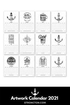 Der Kalender 2021 ist perfekt als Geschenk für Weihnachten. Jeden Monat ein detailliertes Stroncton Artwork, genug Platz für deine Termine / inspirierenden Spruch. Umweltschonendste Kalender / Digitaler Print. Versand per Mail / Kein Transport. Einfach hochwertige PDF Datei downloaden, ausdrucken / im Printshop deines Vertrauens. 1€ geht an THE STRONCTON FOUNDATION. Mehr Inspiration und Outfit Ideen, nachhaltige Mode und Accessoires findest du bei Stroncton im Online Shop #stroncton Monat, Digital Prints, My Design, Calendar, Motivation, Words, Winter, Artwork, Goals In Life
