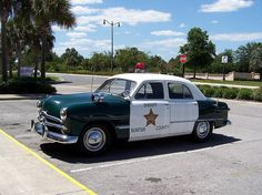 Sumter County Sheriff's Office Antique Ford Patrol Car At The Villages, Lady Lake, Florida. ★。☆。JpM ENTERTAINMENT ☆。★。