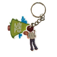 The Bob Ross - This Is Your World Keychain is inspired by the positive views and happy quotes of the painter Bob Ross. This keychain is handmade and there is a lot of hand made craft that goes into ev