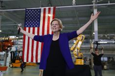 """Elizabeth Warren's """"Plan For Economic Patriotism"""" beats Donald Trump out his own game. The senator has crafted a plan for reviving American manufacturing — and shrinking the trade deficit — that is plausible and futuristic, instead of nostalgic. Primary Election, Presidential Election, Friendly Fox, Native American Ancestry, Shop America, Republican National Committee, American Manufacturing, Democratic Primary"""