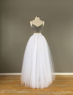 Items similar to Floor length tulle skirt, white tulle skirt, adult tulle skirt, tulle wedding dress on Etsy Modest Wedding Dresses, Princess Wedding Dresses, Homecoming Dresses, Tulle Wedding, Wedding Gowns, Wedding White, Formal Dresses, Rustic Wedding, Sparkle Wedding