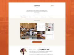 Coffee Routine Homepage by Pavel Huza