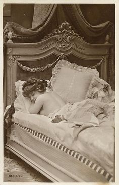Naughty girl ca 1900 Betsy looking satiated after her encounter with David.