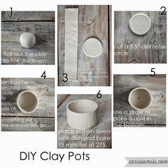 me ~ Easter Ideas - DIY Clay Ornaments Clay Pot Crafts, Polymer Clay Crafts, Diy Clay, Cosas American Girl, Diy Air Dry Clay, Clay Ornaments, Paperclay, Ceramic Clay, Clay Pots