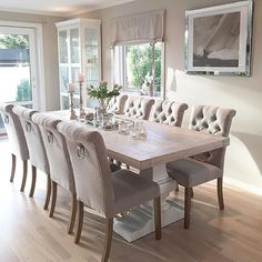 Wohnzimmer – Wohnzimmer – The post Wohnzimmer – Wohnzimmer – appeared first Dining Room Table Decor, Elegant Dining Room, Luxury Dining Room, Dining Room Sets, Dining Room Design, Dining Room Furniture, Living Room Decor, Dinning Room Ideas, Dining Chairs