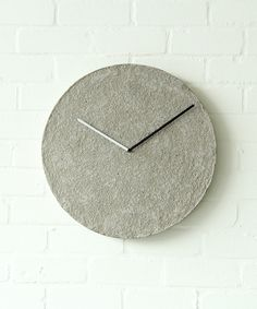 "Time is an illusion. As well as our clock ""Tiksi"" that combines the illusion of weight and the lightness of material.Material: handmade sustainable cellulose, metal."