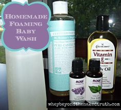 Homemade Foaming Baby Wash - would make yummy smelling hand soap