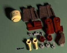 Wooden LEGO doll