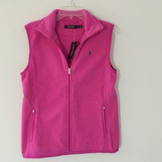 Ralph Lauren pink vest new with tags small Brand new with tags on size small Ralph Lauren Jackets & Coats Vests