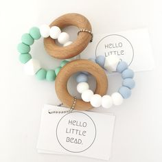 CLASSIC Teether Silicone Teething Toy Pastel and White