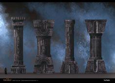 video game pillar. Love the concept art of these pillars.