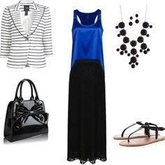 Maxi Skirt with blazer