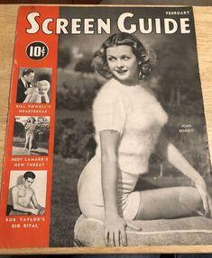 """Vintage 1939 Magazine Cover - JOAN BENNETT - COVER ONLY  - 10-1/2"""" x 13-1/2"""""""