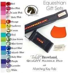 http://store.bonvivantequine.com/p/equestrian-gift-set-saddle-pad-and-twilight-browband