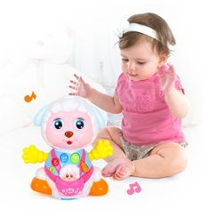 Baby Toys Cartoon Sheep Early Educational Play Electronic Toys Interactive Electric Pets Plastic Kids Cheap Toys Christmas Gifts