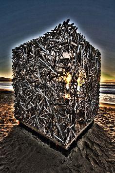 PINTEREST 25 Aug. Garth Ensley (photo), Time Capsule. Site Specific Land Art Week 2013. Site_Specific #LandArtBiennale. #Plett