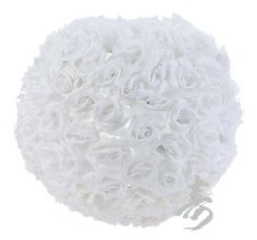 """14"""" White Rose Flower Ball Lantern by Asian Import Store, Inc.. $34.95. This 14"""" white flower ball lantern features white roses spread around a inner nylon shell. Decorate any wedding, or party with these beautiful rose flower balls.   - nylon lantern accented with pvc flowers - 14"""" diameter"""