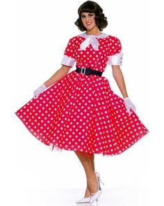 Adult 50's Housewife Poodle 50s Costume - Women Costumes - Mobile