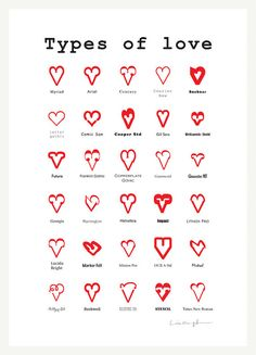 Types of Love Poster Design