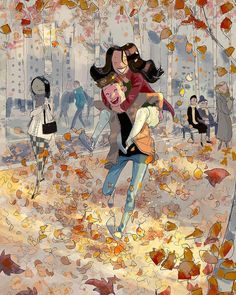 Serene Illustrations Celebrate the Simple Joyful Moments of Everyday Life Digital Illustration Pascal CampionDigital Illustration Pascal Campion Pascal Campion, Couple Illustration, Digital Illustration, Character Illustration, Kawaii Illustration, Animal Illustrations, Pixiv Fantasia, Cute Couple Art, Cartoon Art