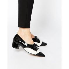 ASOS | ASOS ON THE CARDS Lace Up Heels at ASOS (£35) via Polyvore