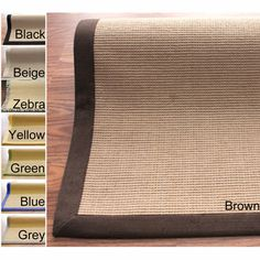 Yellow- nuLOOM Handmade Alexa Eco Natural Fiber Cotton Border Jute Rug (8' x 10')