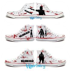 Walking Dead Shoes. Sheriff Rick Grimes. Daryl by HJArtistry