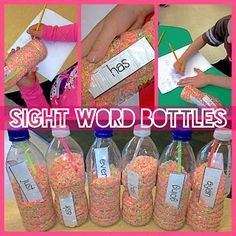 Glow-in-the-dark sight word discovery bottles!!!