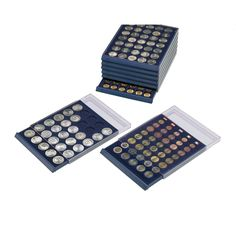 Dimes Coin Collection Storage Drawer 135 Angled Compartments for Pennies etc