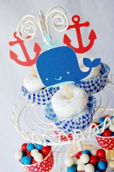 """Photo 2 of 7: Nautical / Baby Shower/Sip & See """"Ahoy, It's a boy""""   Catch My Party"""