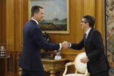 Foro Hispanico de Opiniones sobre la Realeza: El Rey Felipe recibió al Presidente del Congreso de los Diputados, Patxi López