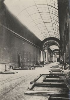 The Louvre (in Paris, France) during the Second World War.
