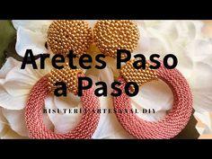 Beaded Bracelet Patterns, Netted Bracelet, Beading Patterns, Quilling Earrings, Bead Earrings, Jewelry Making Tutorials, Beading Tutorials, Earring Tutorial, Wire Wrapped Earrings