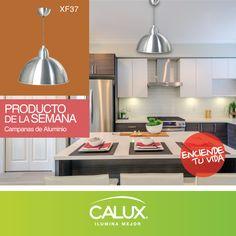 Hermosa lampara de aluminio, encuéntrala en http://www.calux.com.mx/