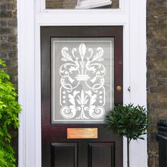 Jane Victorian Etch Glass Pattern by Purlfrost